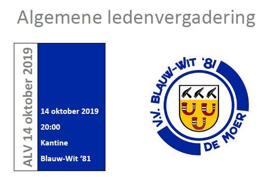 Algemene ledenvergadering 14-10-2019
