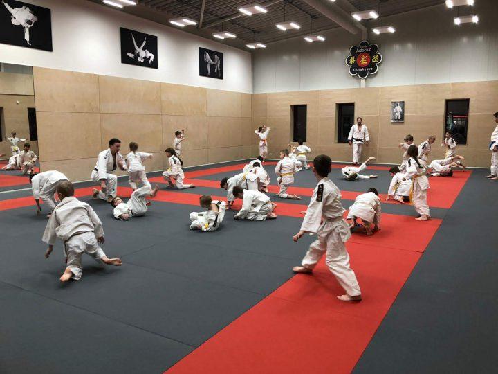 Jonge jeugd Blauw-Wit '81 naar de Judo in de Winterstop.